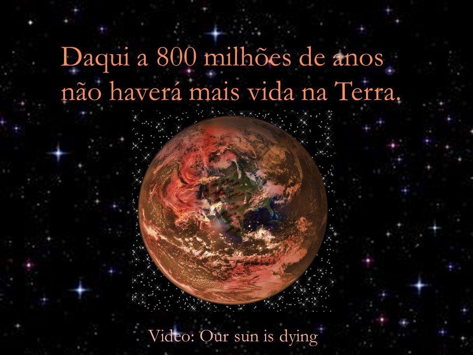 Daqui a 800 milhões de anos não haverá mais vida na Terra. Video: Our sun is dying