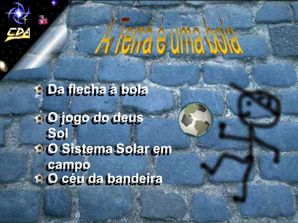Da flecha à bola O jogo do deus Sol O Sistema Solar em campo O céu da bandeira