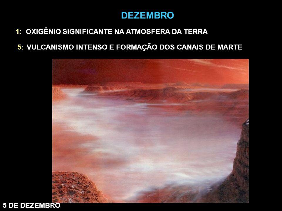 5 DE DEZEMBRO 1: OXIGÊNIO SIGNIFICANTE NA ATMOSFERA DA TERRA 5:VULCANISMO INTENSO E FORMAÇÃO DOS CANAIS DE MARTE DEZEMBRO
