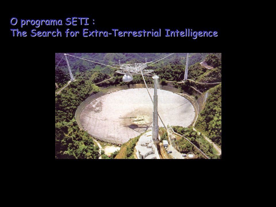 O programa SETI : The Search for Extra-Terrestrial Intelligence