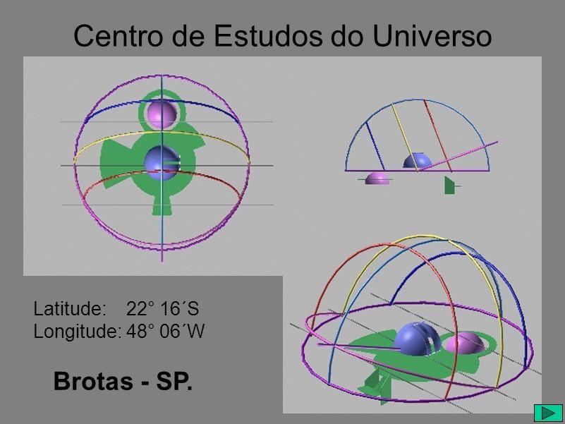 Centro de Estudos do Universo Latitude: 22° 16´S Longitude: 48° 06´W Brotas - SP.