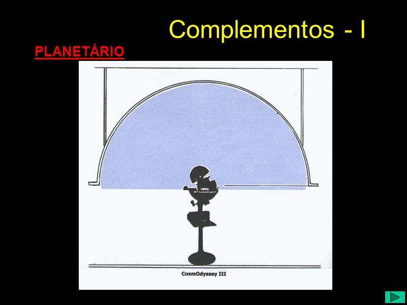 PLANETÁRIO Complementos - I