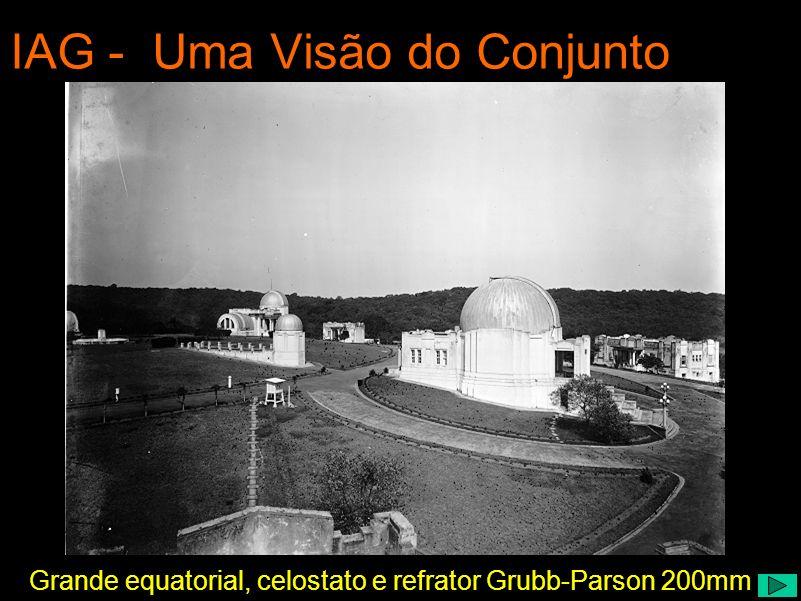 Grande equatorial, celostato e refrator Grubb-Parson 200mm IAG - Uma Visão do Conjunto