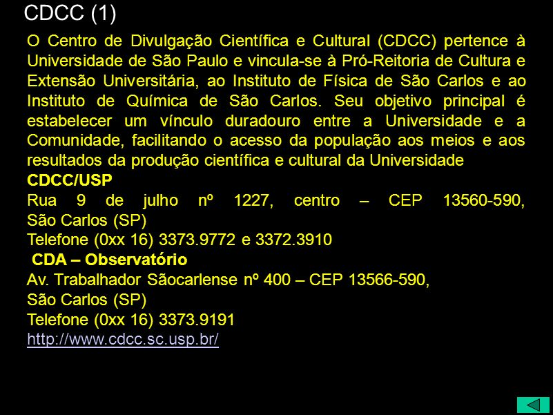 http://www.cdcc.sc.usp.br/cda FIM
