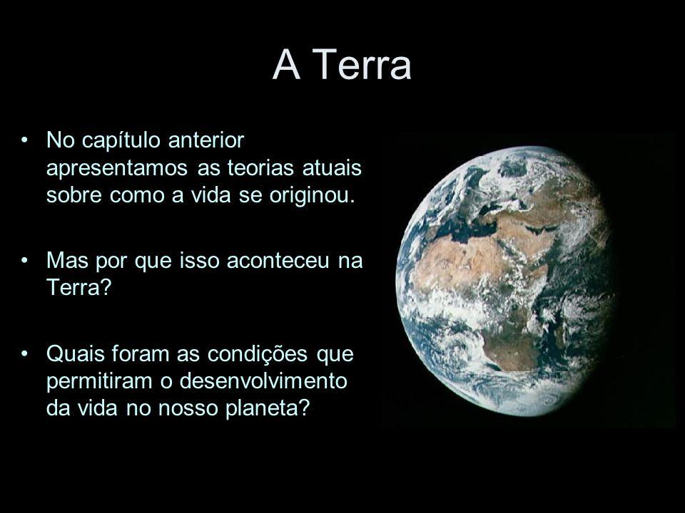 A Terra No capítulo anterior apresentamos as teorias atuais sobre como a vida se originou. Mas por que isso aconteceu na Terra? Quais foram as condiçõ