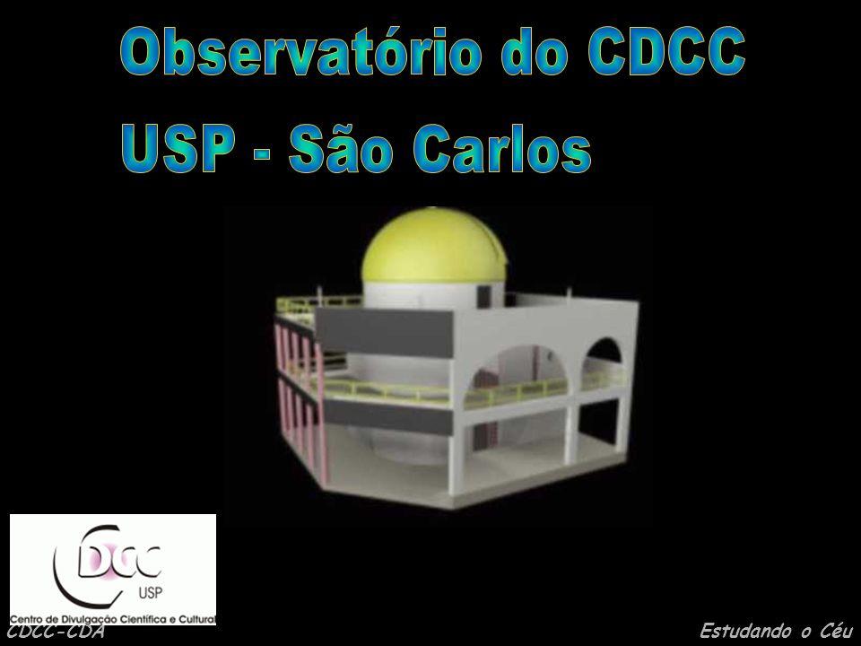 CDCC-CDA Estudando o Céu Observatório do CDCC - USP/SC Setor de Astronomia (OBSERVATÓRIO) (Centro de Divulgação da Astronomia - CDA) Centro de Divulgação Científica e Cultural - CDCC Universidade de São Paulo - USP http://www.cdcc.sc.usp.br/cda Endereço: Av.