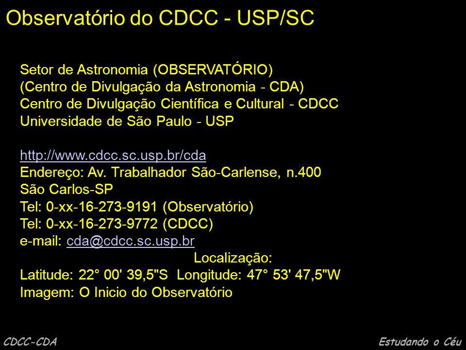 CDCC-CDA Estudando o Céu Sessão Astronomia