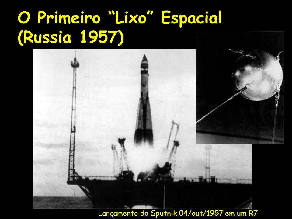O Primeiro Lixo Espacial (Russia 1957) Lançamento do Sputnik 04/out/1957 em um R7