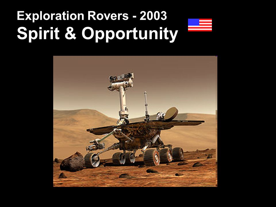 Exploration Rovers - 2003 Spirit & Opportunity