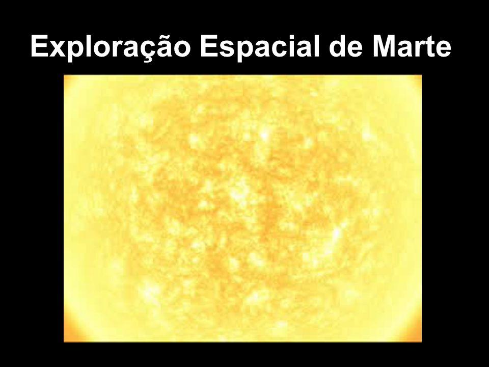 Mercúrio Vênus Lua Europa (Satélite de Júpiter) Titan (Satélite de Saturno) MARTE Frio e Seco, atmosfera muito rarefeita Água (congelada nos polos) Nitrogênio Carbono e Oxigênio (na forma de dióxido de carbono, CO 2 ) Por que Marte?