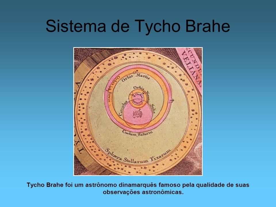 Sistema de Tycho Brahe Tycho Brahe foi um astrônomo dinamarquês famoso pela qualidade de suas observações astronômicas.