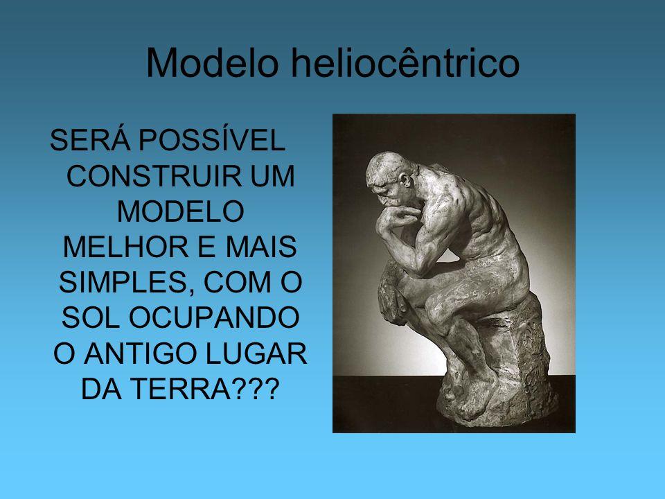 Modelo heliocêntrico SERÁ POSSÍVEL CONSTRUIR UM MODELO MELHOR E MAIS SIMPLES, COM O SOL OCUPANDO O ANTIGO LUGAR DA TERRA???