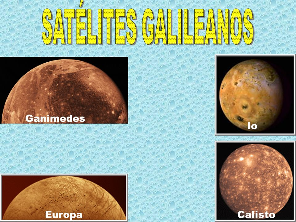Io EuropaCalisto Ganimedes