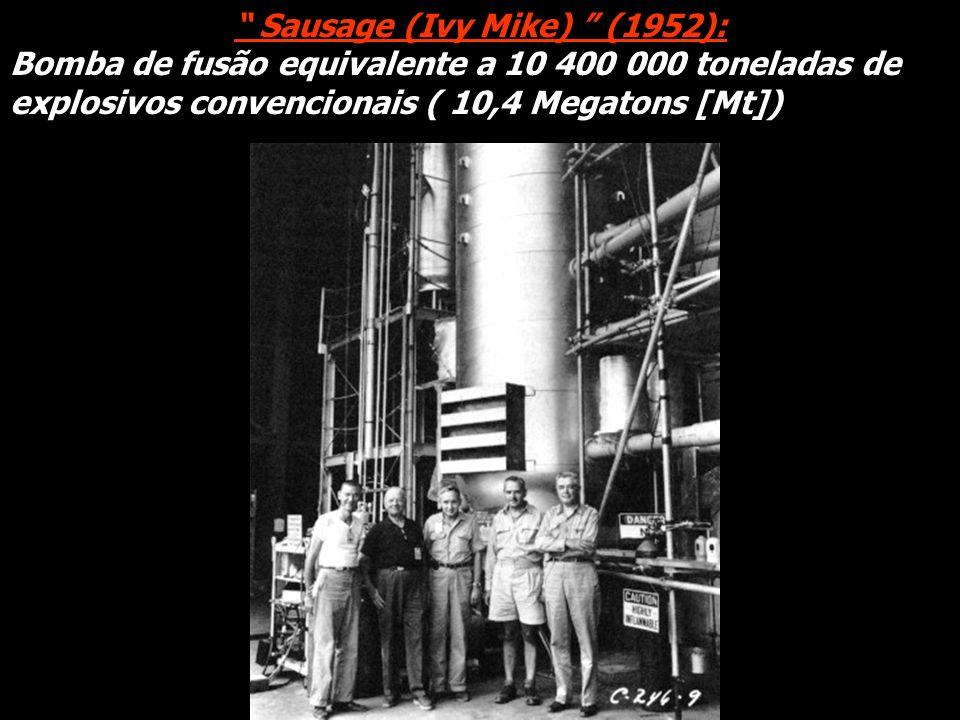Explosivo químico Berílio Plutônio-239 Gás de deutério + trítio Espuma de plástico Estojo de urânio -238 Urânio-238 óu -235 Lítio deuterado ( combustível da fusão) Urânio -235 Gerador de nêutrons Cápsula de reentrada Moderna bomba termonuclear (Mk-87 para Peacekeeper [ MX]) Comprimento:1,70 m Diâmetro: 0,50 m Massa: 360 kg Equivalente a: 300 000 toneladas de explosivos convencionais (300 Kt) Raios-X