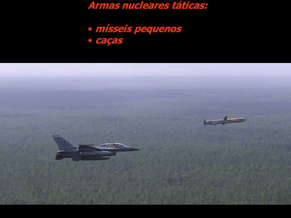 Armas nucleares táticas: mísseis pequenos caças