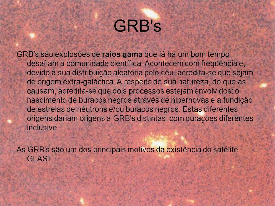 GRB s GRB s são explosões de raios gama que já há um bom tempo desafiam a comunidade científica.