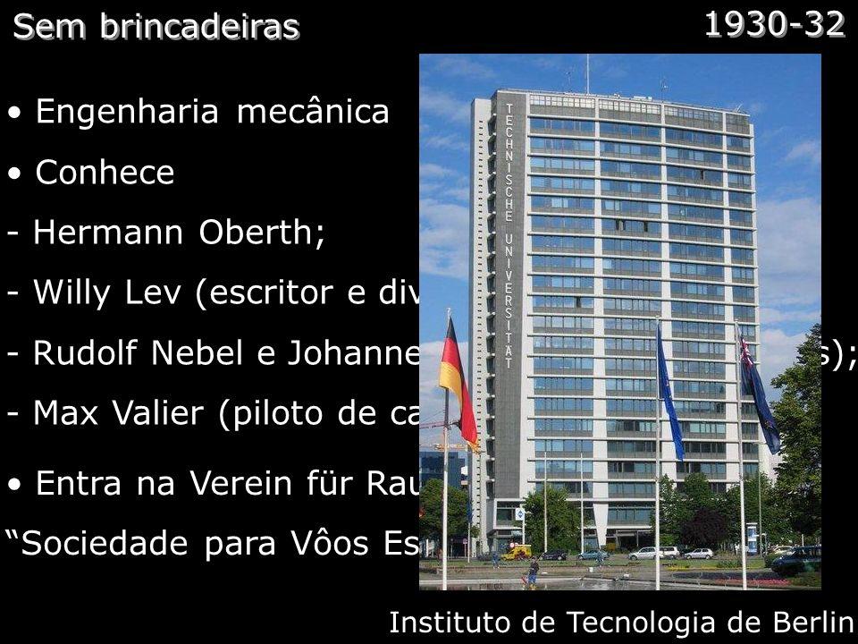 Medicina Espacial Comentários: Talvez Von Braun tenha sido a primeira pessoal a começar o estudo da medicina espacial. Junto com seu colega de quarto,
