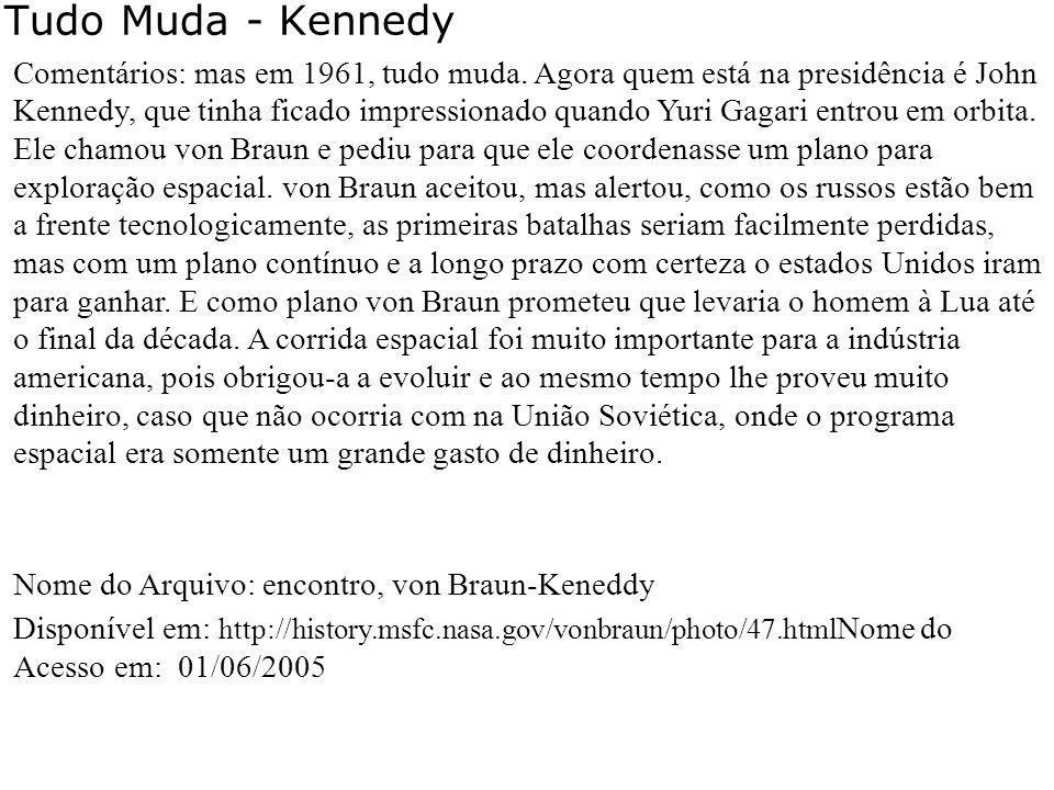 Tudo Muda - Kennedy 1961