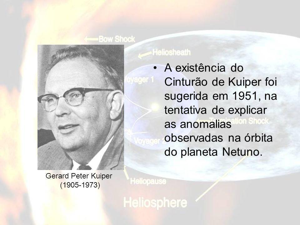 A existência do Cinturão de Kuiper foi sugerida em 1951, na tentativa de explicar as anomalias observadas na órbita do planeta Netuno. Gerard Peter Ku