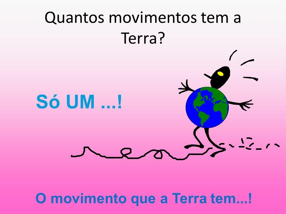 Quantos movimentos tem a Terra? Só UM...! O movimento que a Terra tem...!