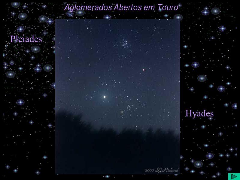Aglomerados Abertos em Touro Pleiades Hyades