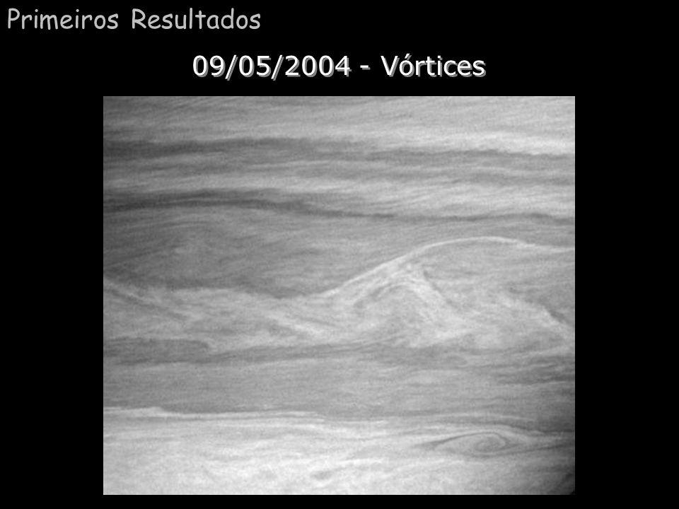 Saturno (Polo Sul) Comentário:. Aqui temos uma foto tirada do polo sul de Saturno e mostra uma grande tempestade. Título saturno.jpg(polo sul). Dispon