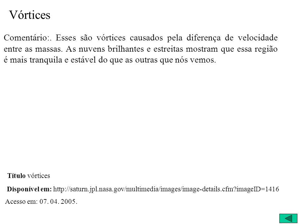 Primeiros Resultados 09/05/2004 - Vórtices