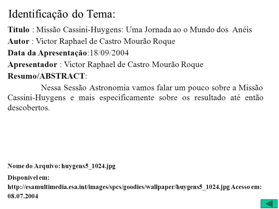 Apresentação: Victor Raphael de Castro Mourão Roque (Robin)