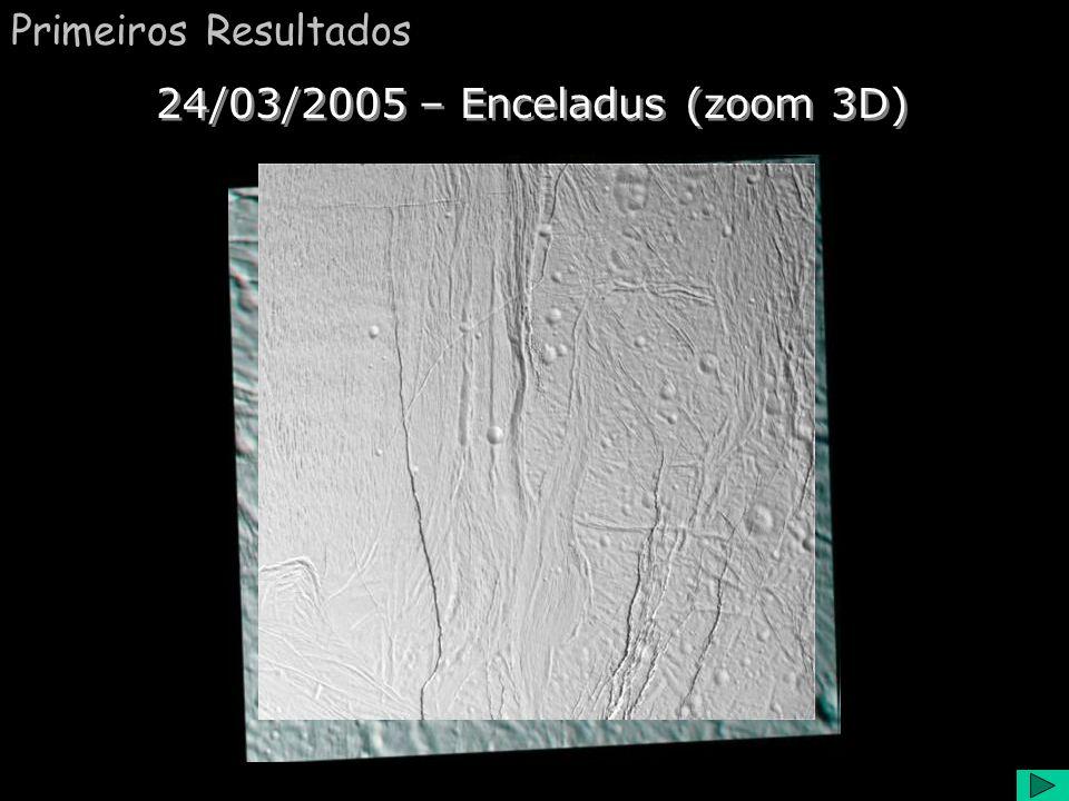 Enceladus Comentário:. Durante seus dois sobrevoos em Enceladus, Cassini revelou que o satélite tinha uma significante atmosfera. Com a ajuda do magne