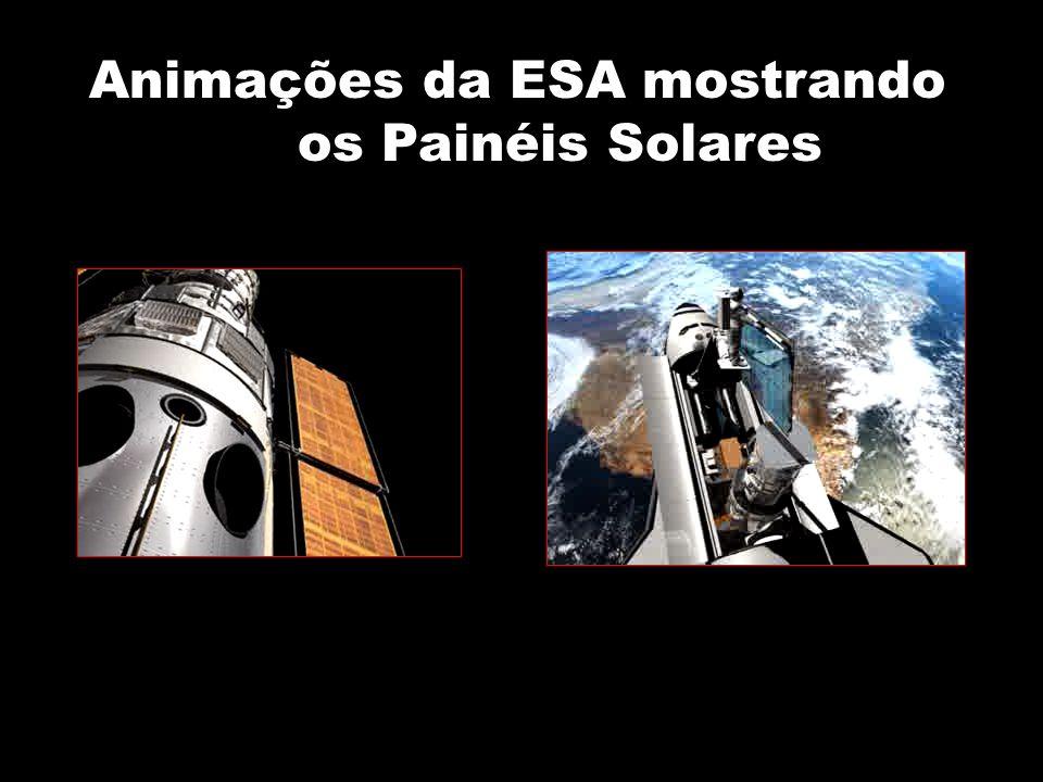 Animações da ESA mostrando os Painéis Solares