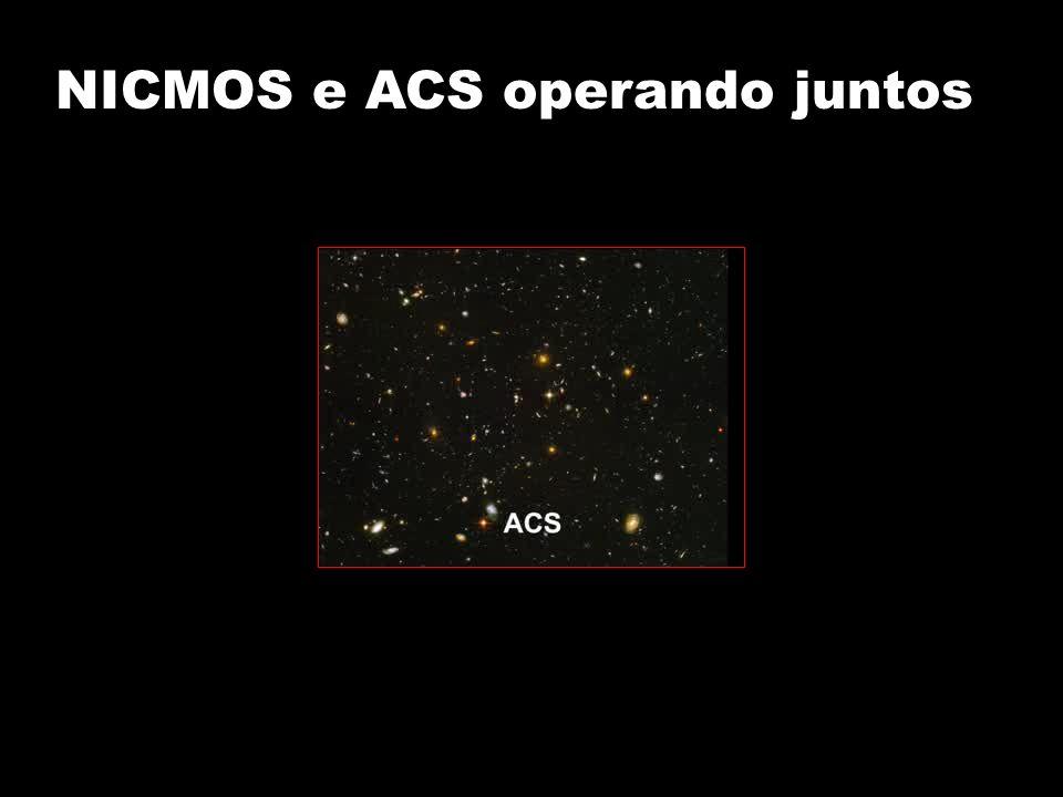 NICMOS e ACS operando juntos