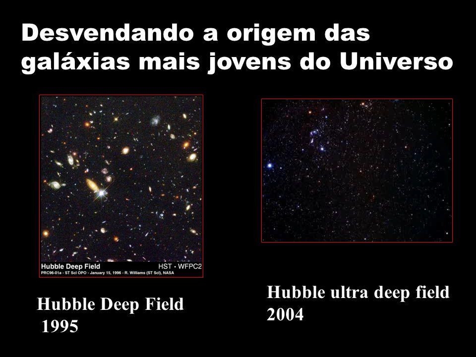 Desvendando a origem das galáxias mais jovens do Universo Hubble Deep Field 1995 Hubble ultra deep field 2004