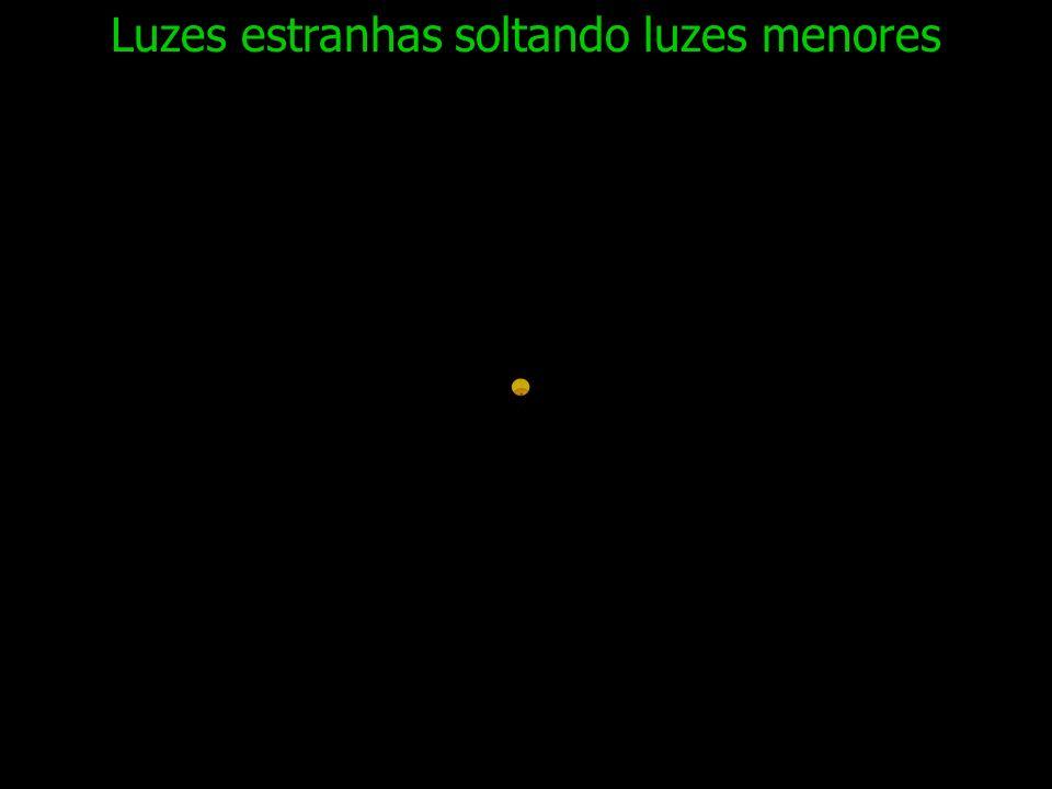 Luzes estranhas soltando luzes menores