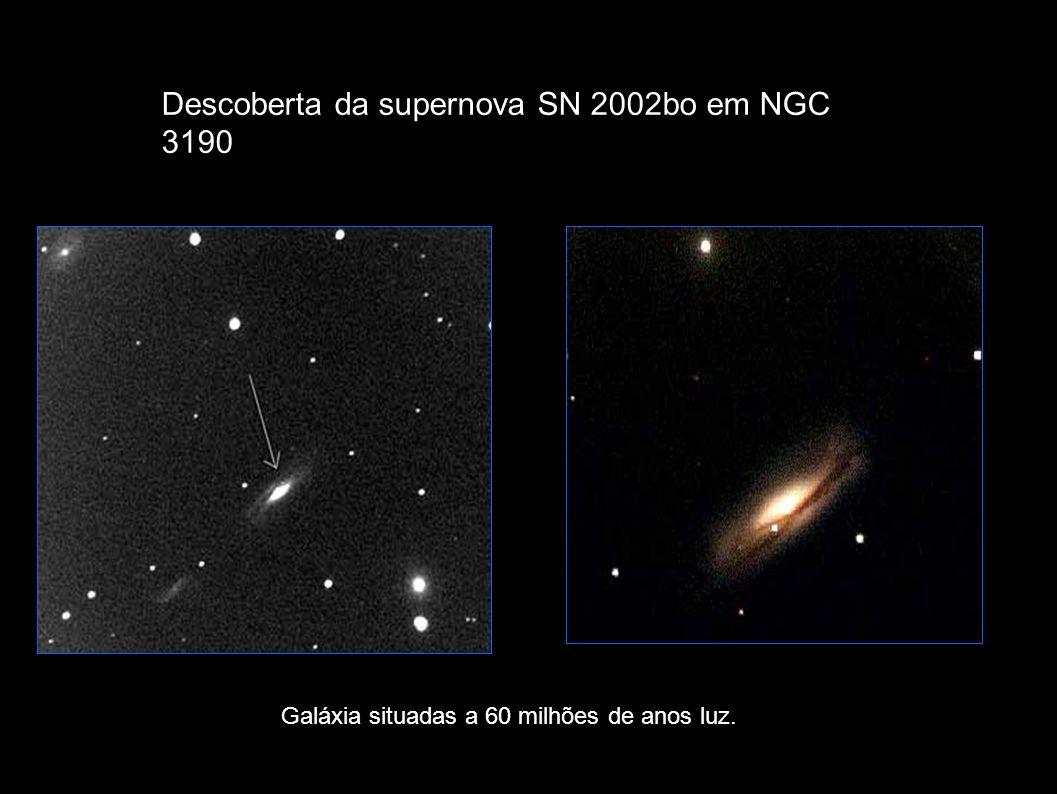 Descoberta da supernova SN 2002bo em NGC 3190 Galáxia situadas a 60 milhões de anos luz.