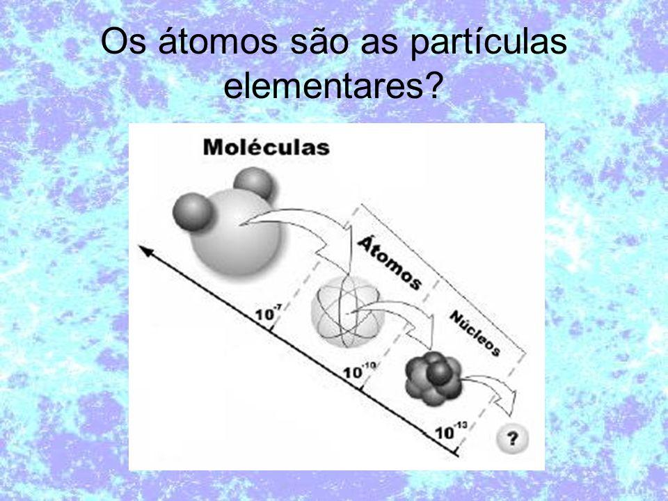 Os átomos são as partículas elementares?