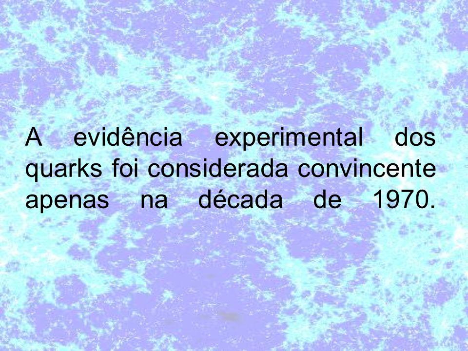 A evidência experimental dos quarks foi considerada convincente apenas na década de 1970.