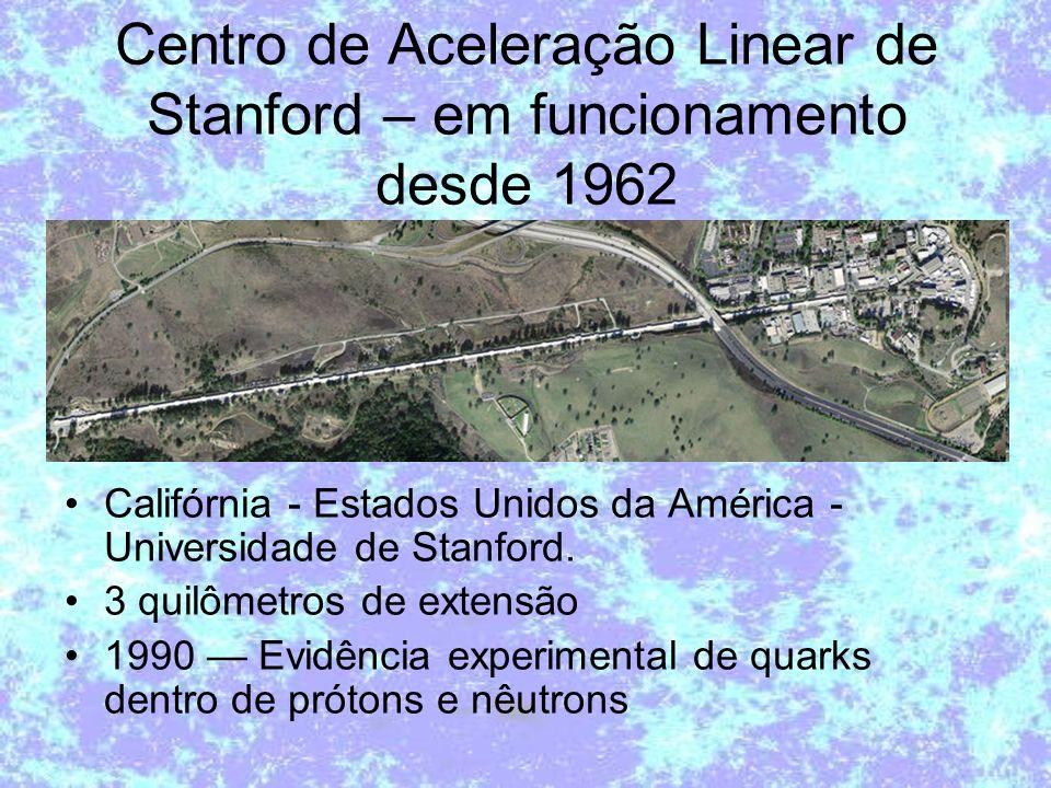 Centro de Aceleração Linear de Stanford – em funcionamento desde 1962 Califórnia - Estados Unidos da América - Universidade de Stanford. 3 quilômetros