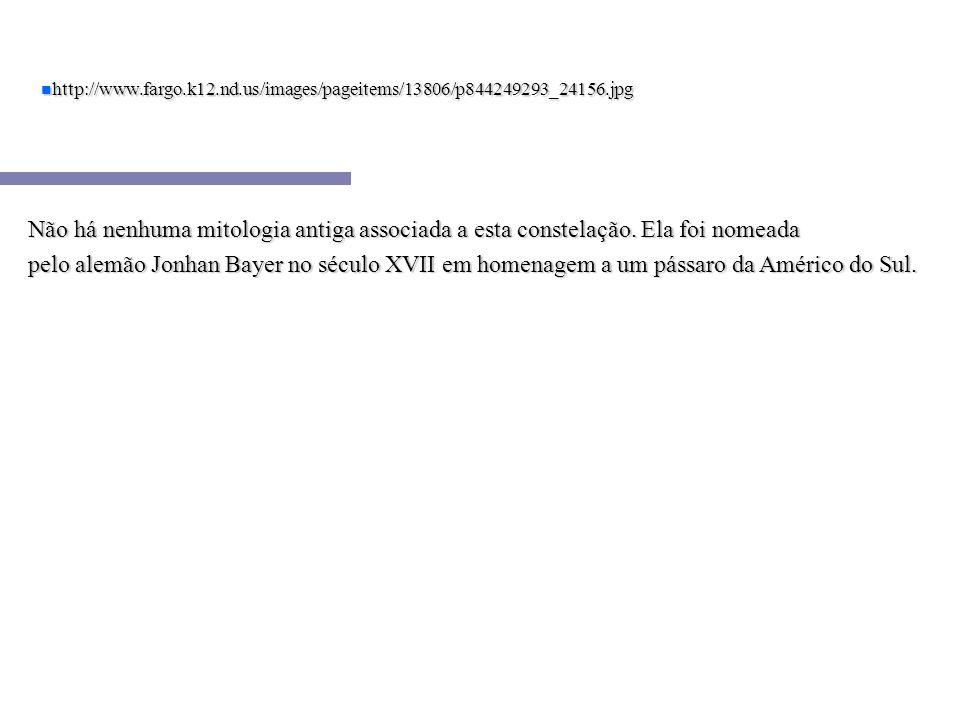 n http://www.fargo.k12.nd.us/images/pageitems/13806/p844249293_24156.jpg Não há nenhuma mitologia antiga associada a esta constelação. Ela foi nomeada
