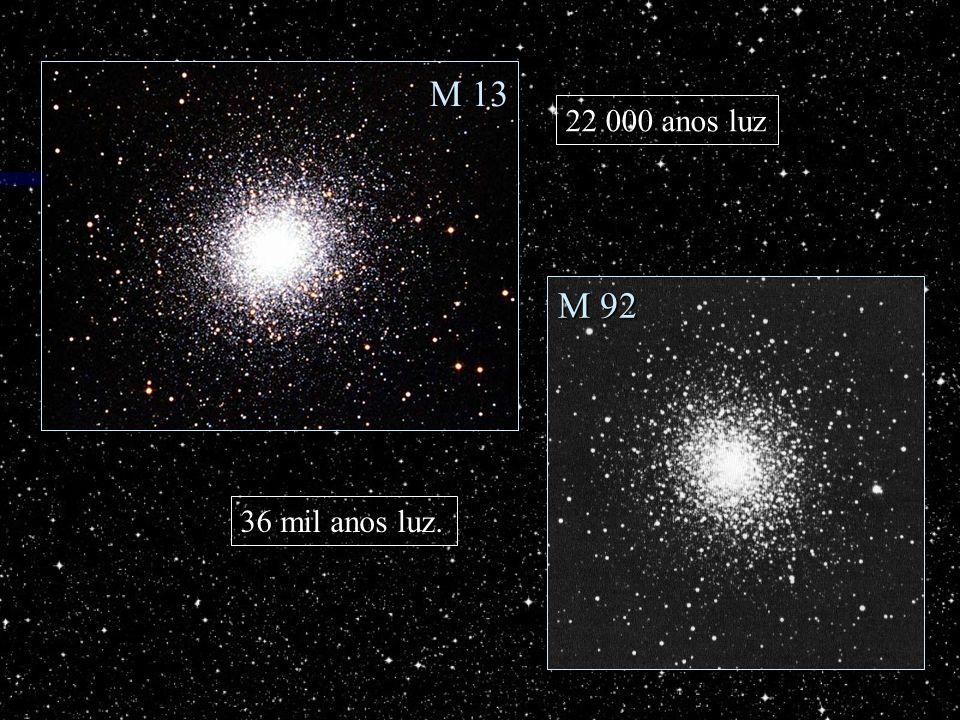 M 92 M 13 22 000 anos luz 36 mil anos luz.