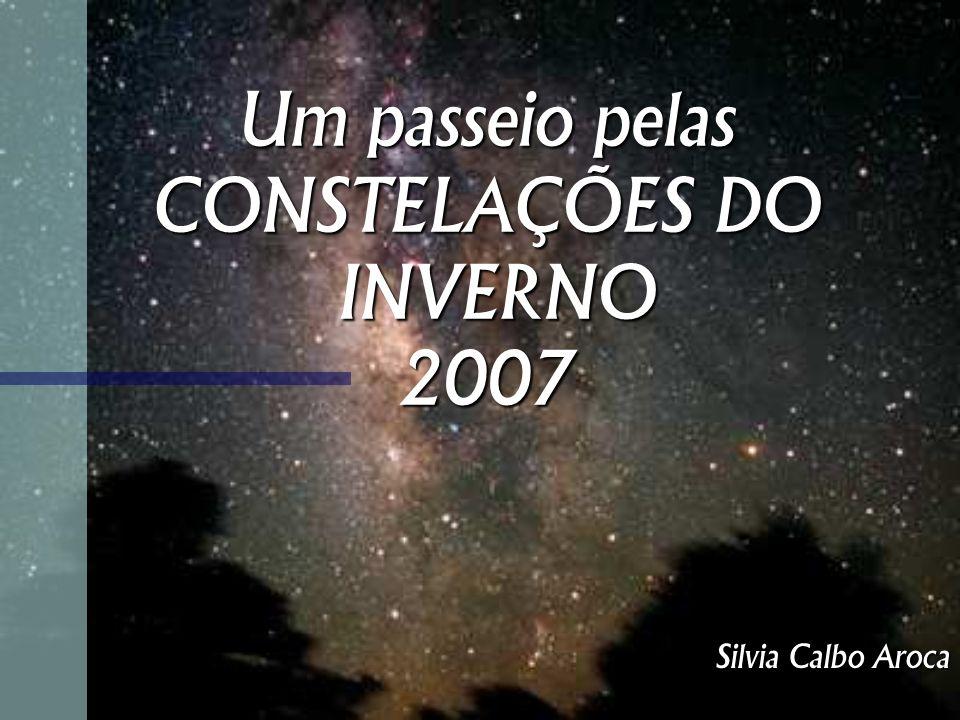Um passeio pelas CONSTELAÇÕES DO INVERNO 2007 Silvia Calbo Aroca