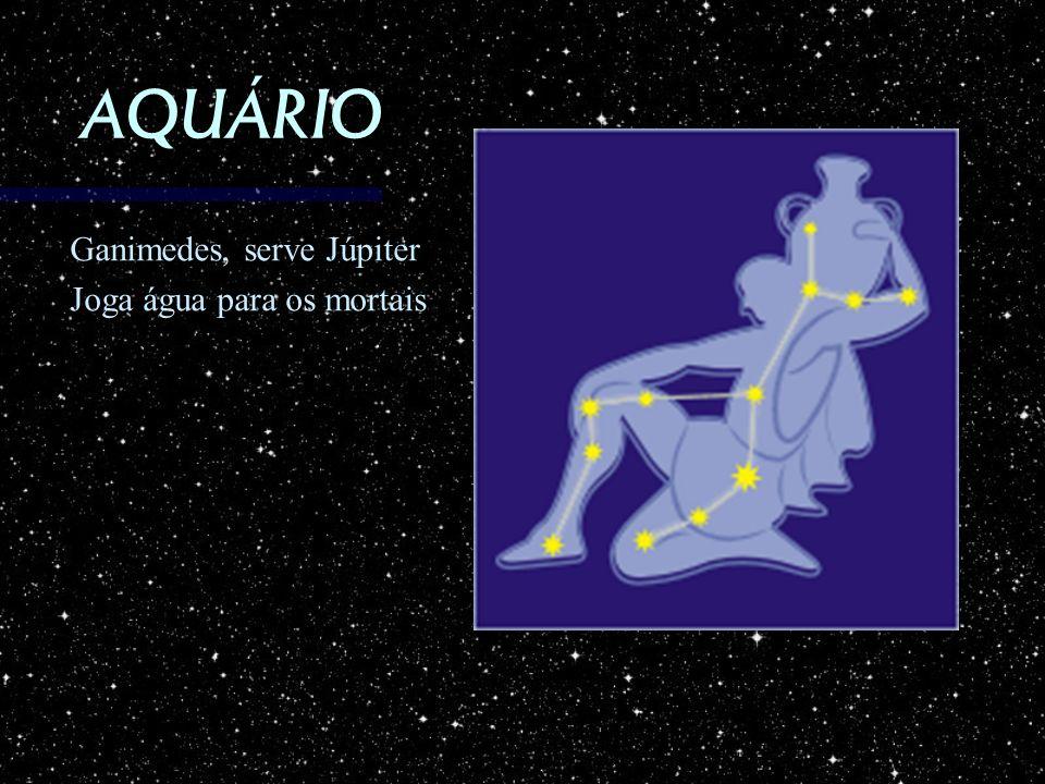 AQUÁRIO Ganimedes, serve Júpiter Joga água para os mortais