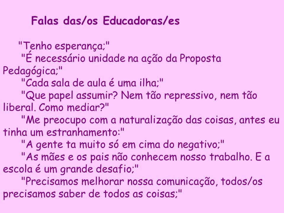 Falas das/os Educadoras/es