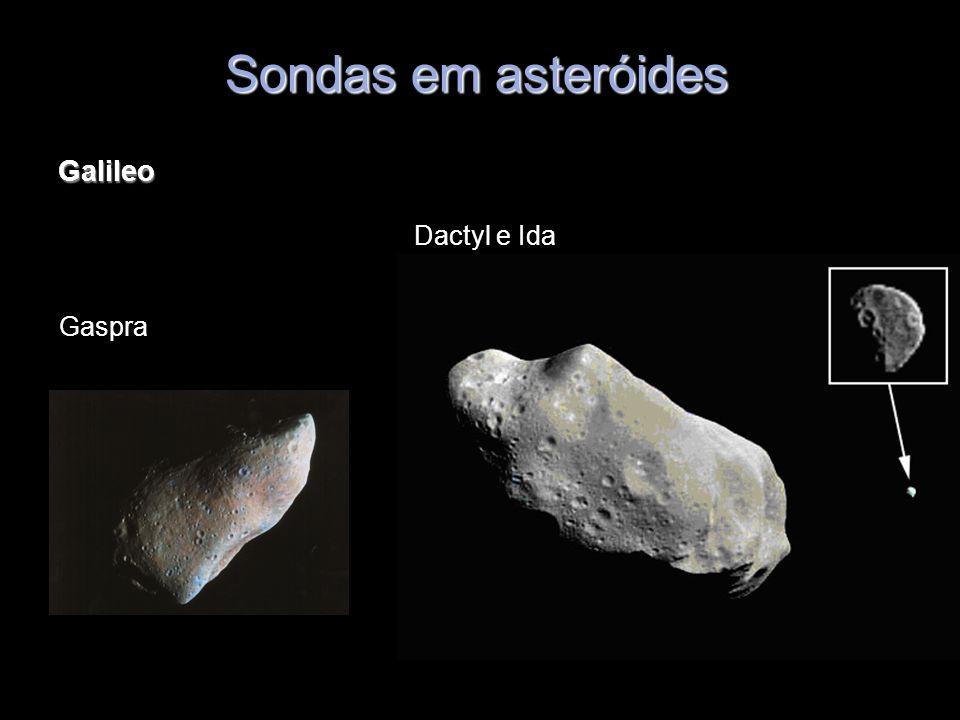 Galileo Sondas em asteróides Gaspra Dactyl e Ida