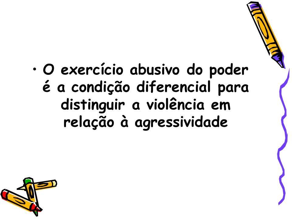 VIOLÊNCIA Segundo Corsi, O objetivo de quem exerce violência é anular o conflito e controlar o outro por meio de maus-tratos, devido à técnica de dominação.
