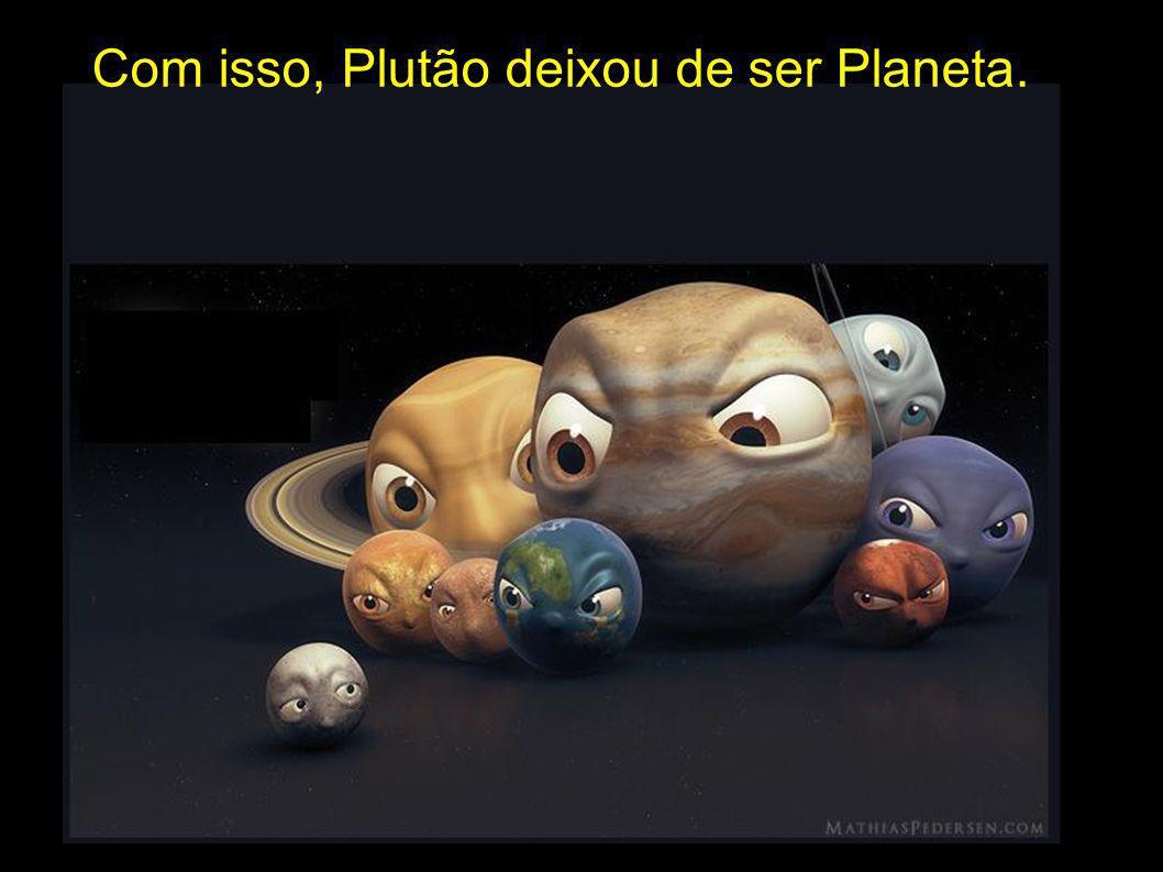 Com isso, Plutão deixou de ser Planeta.