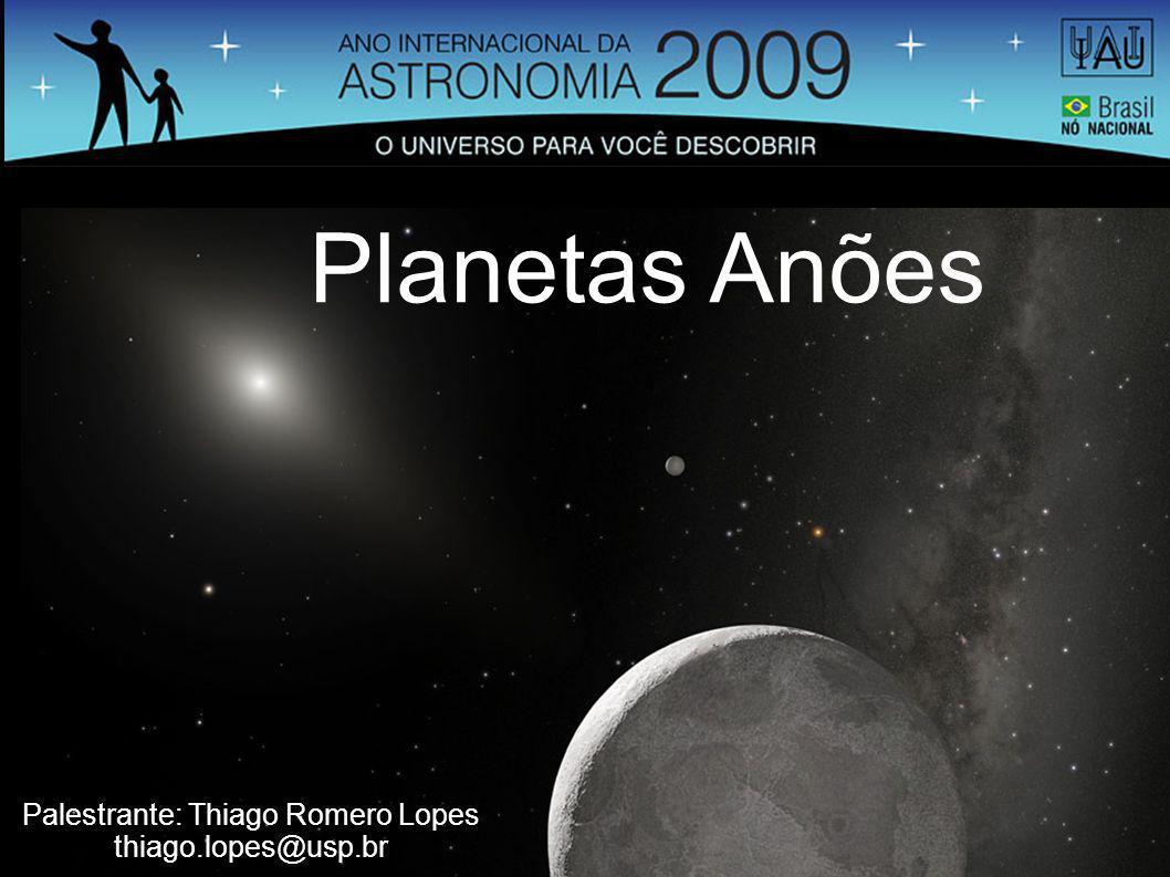 Planetas Anões Palestrante: Thiago Romero Lopes thiago.lopes@usp.br