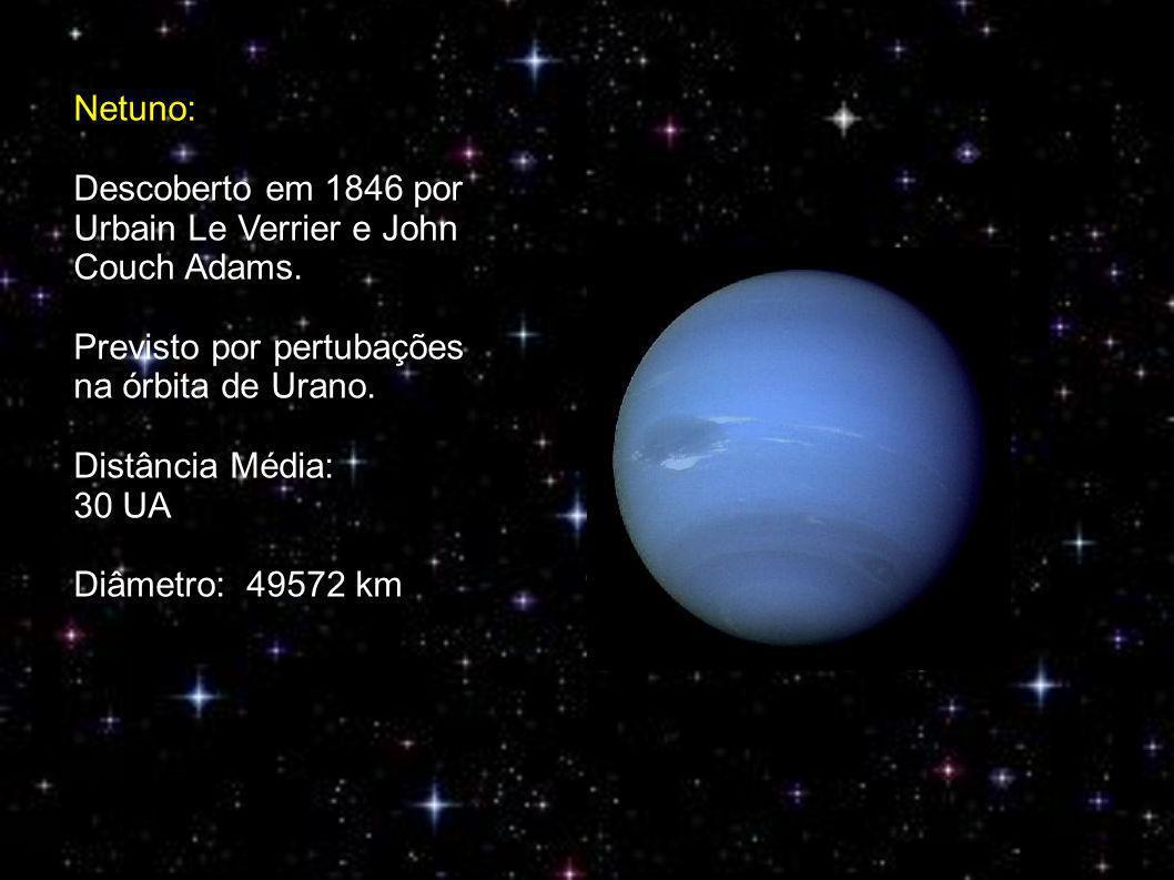 Netuno: Descoberto em 1846 por Urbain Le Verrier e John Couch Adams.