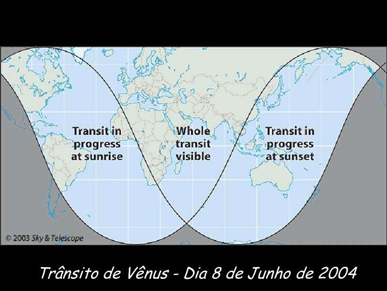 Trânsito de Vênus - Dia 8 de Junho de 2004