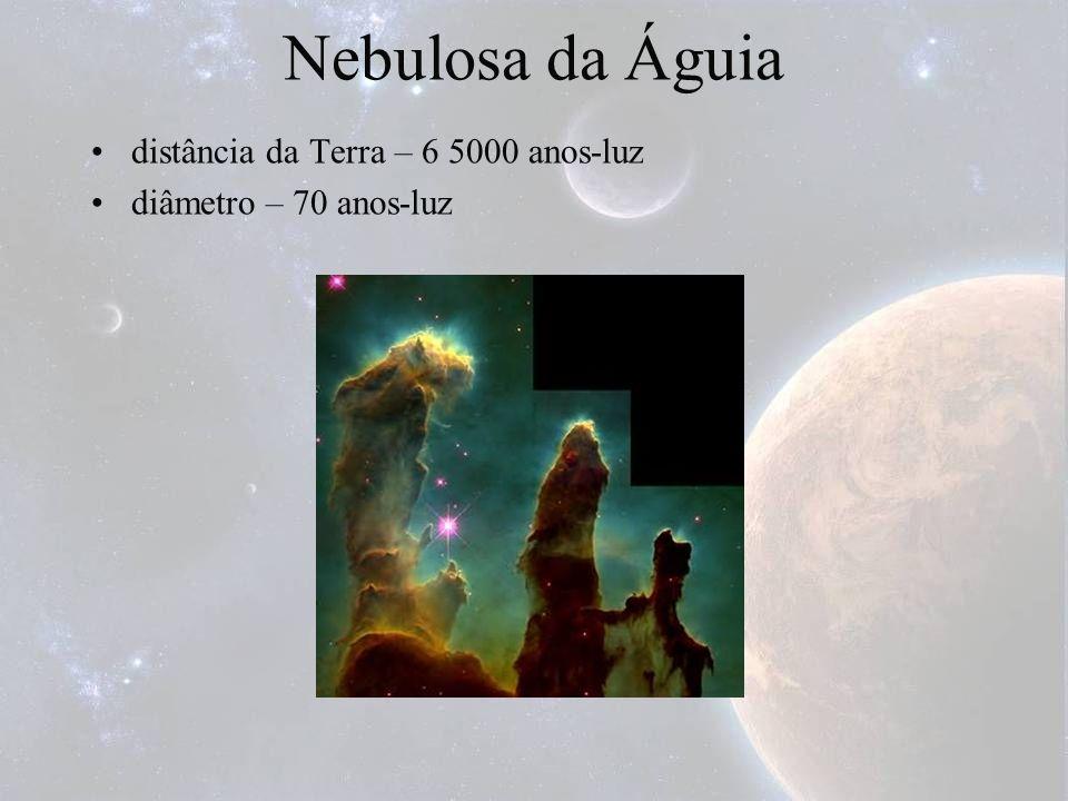 Nebulosa da Águia distância da Terra – 6 5000 anos-luz diâmetro – 70 anos-luz