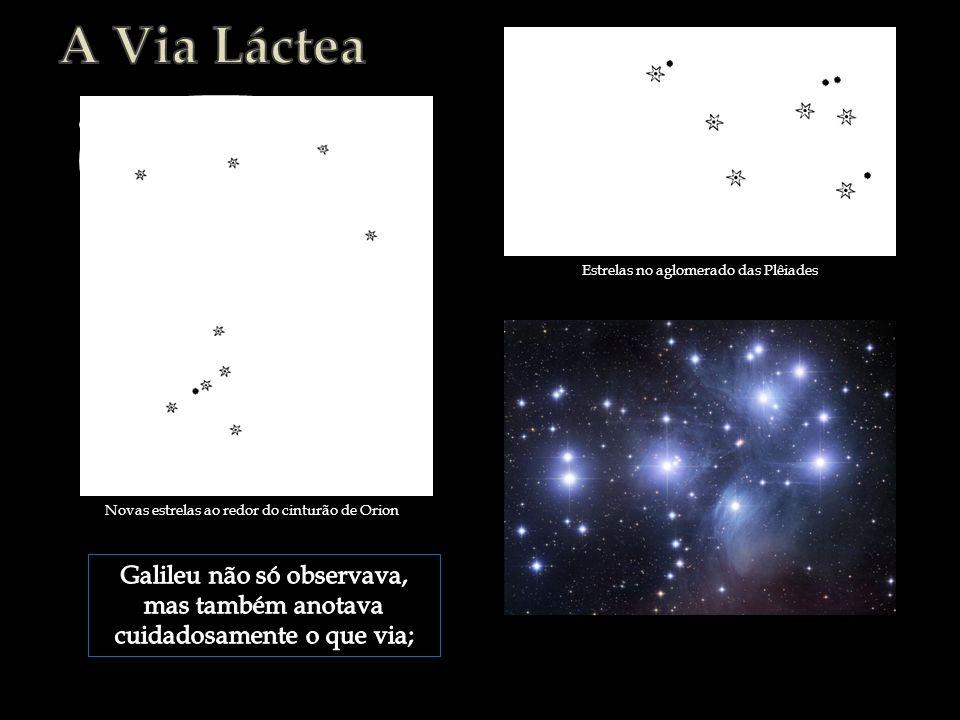 Novas estrelas ao redor do cinturão de Orion Estrelas no aglomerado das Plêiades
